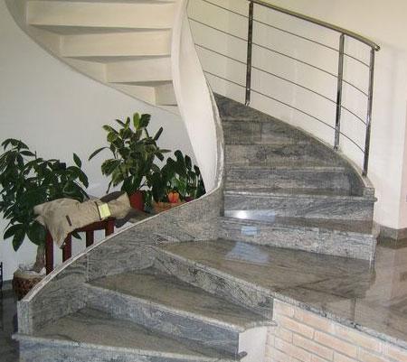 Escaleras de marnol y granitos Marbrers Gersans en Reus