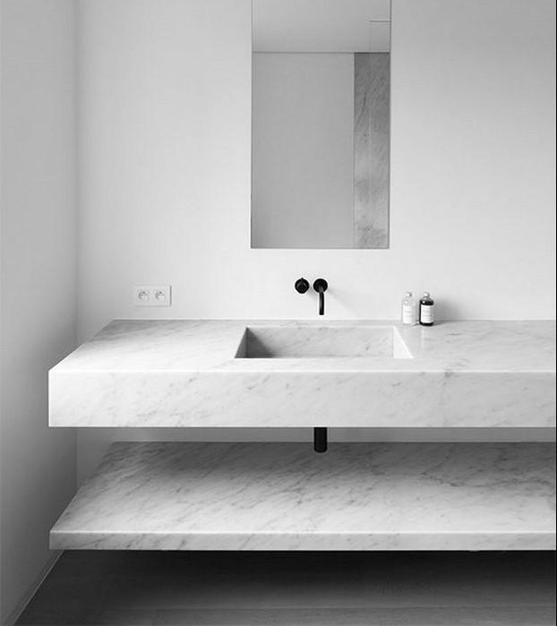 marmol en baños