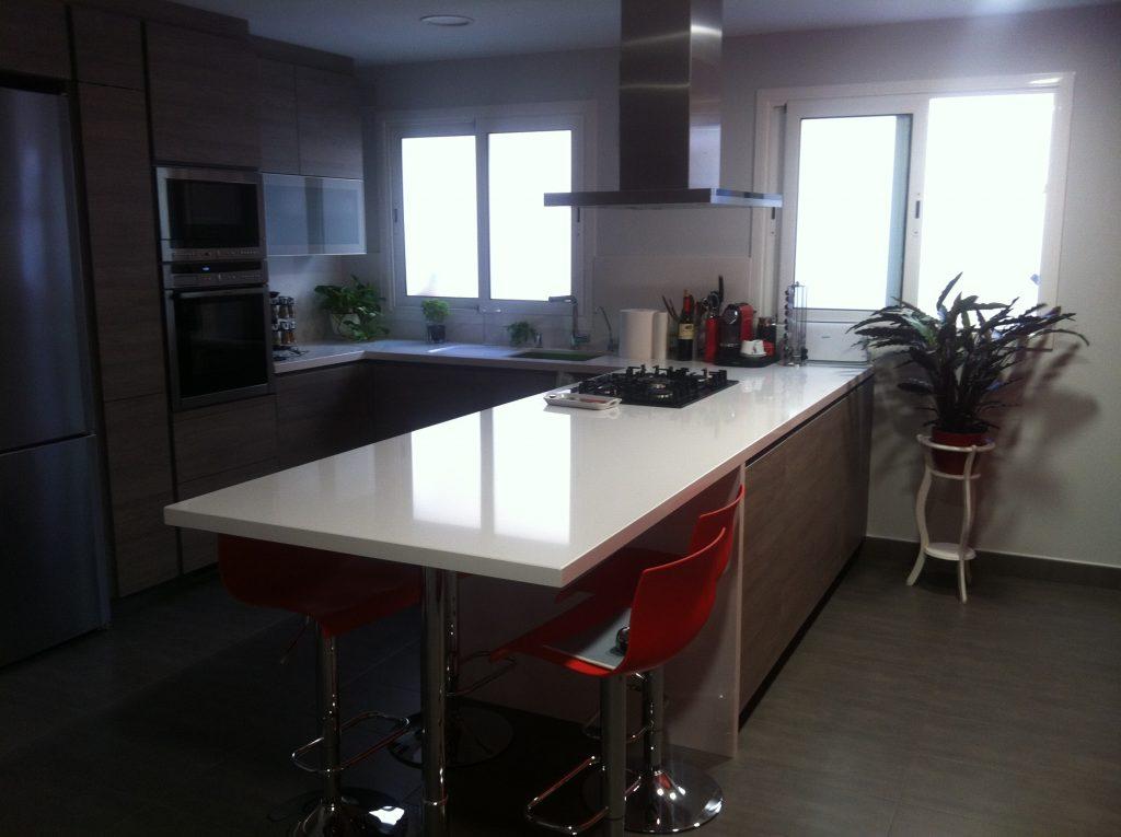 marmol en cocinas