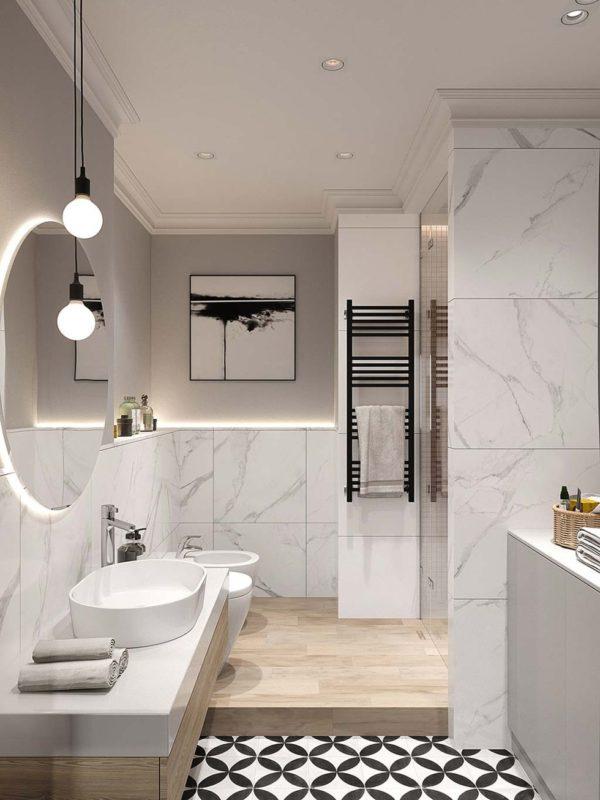 reformas de baños en Reus con mármol